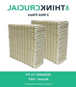 2 Replacements for Aircare 1043 Paper Wick Humidifier Filter