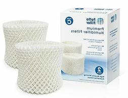 Fette Filter 2-Pack Humidifier Wicking Filters. Compatible w