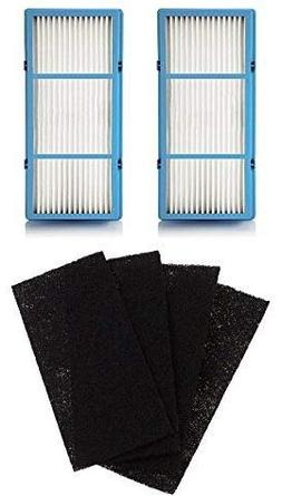 Nispira 2 HEPA Filter Replacement Plus 4 Charcoal Booster Pr