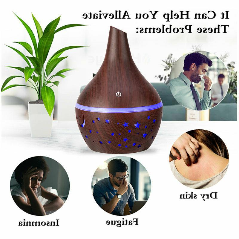 300ml aromatherapy oil diffuser fog humidifier purifier