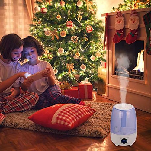 Hydnora Cool Mist Ultrasonic Oil 4.8L with 3 Mist Humidifier Whisper-Quiet Mist Humidifier Office Bedroom