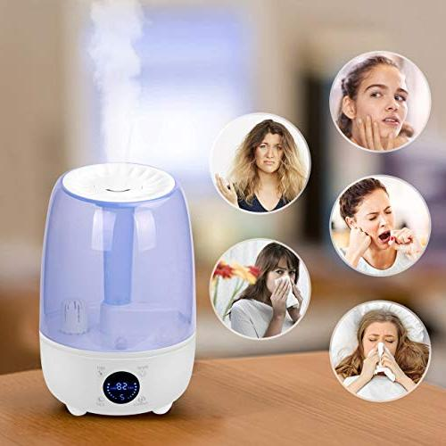 Hydnora Cool Mist Ultrasonic Diffuser 4.8L with 3 Adjustable Mist Whisper-Quiet Mist Office