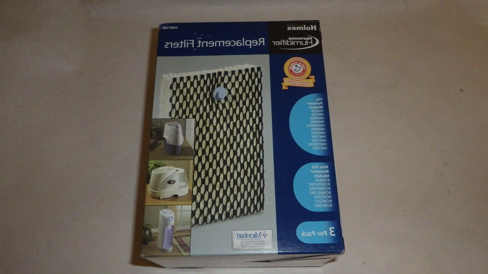 hwf100 humidifier replacement filters antimicrobial 3 pack